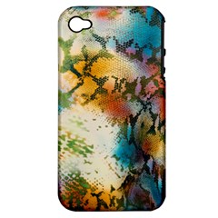 Abstract Color Splash Background Colorful Wallpaper Apple iPhone 4/4S Hardshell Case (PC+Silicone)