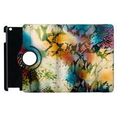 Abstract Color Splash Background Colorful Wallpaper Apple iPad 2 Flip 360 Case