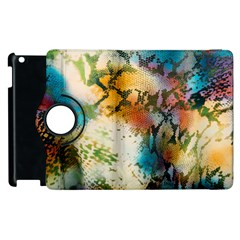 Abstract Color Splash Background Colorful Wallpaper Apple Ipad 3/4 Flip 360 Case