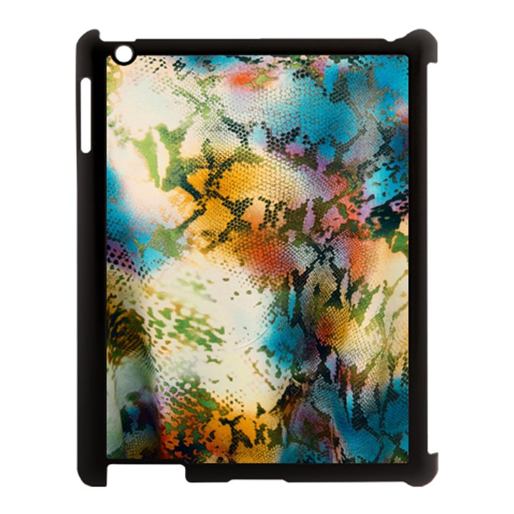 Abstract Color Splash Background Colorful Wallpaper Apple iPad 3/4 Case (Black)