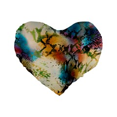 Abstract Color Splash Background Colorful Wallpaper Standard 16  Premium Heart Shape Cushions