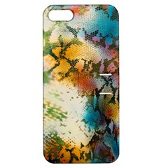 Abstract Color Splash Background Colorful Wallpaper Apple iPhone 5 Hardshell Case with Stand