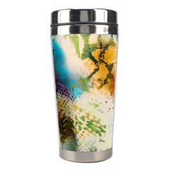 Abstract Color Splash Background Colorful Wallpaper Stainless Steel Travel Tumblers