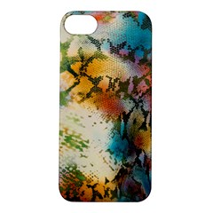 Abstract Color Splash Background Colorful Wallpaper Apple iPhone 5S/ SE Hardshell Case