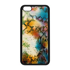 Abstract Color Splash Background Colorful Wallpaper Apple iPhone 5C Seamless Case (Black)