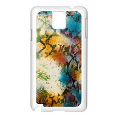 Abstract Color Splash Background Colorful Wallpaper Samsung Galaxy Note 3 N9005 Case (White)