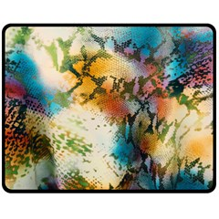 Abstract Color Splash Background Colorful Wallpaper Double Sided Fleece Blanket (Medium)