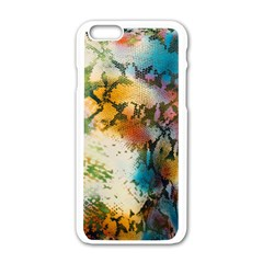 Abstract Color Splash Background Colorful Wallpaper Apple iPhone 6/6S White Enamel Case