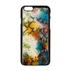 Abstract Color Splash Background Colorful Wallpaper Apple iPhone 6/6S Black Enamel Case