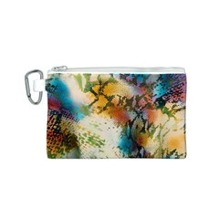 Abstract Color Splash Background Colorful Wallpaper Canvas Cosmetic Bag (s)
