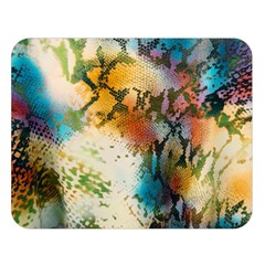 Abstract Color Splash Background Colorful Wallpaper Double Sided Flano Blanket (large)