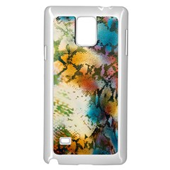 Abstract Color Splash Background Colorful Wallpaper Samsung Galaxy Note 4 Case (white)
