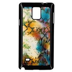 Abstract Color Splash Background Colorful Wallpaper Samsung Galaxy Note 4 Case (Black)