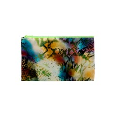 Abstract Color Splash Background Colorful Wallpaper Cosmetic Bag (xs)