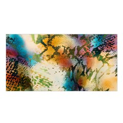 Abstract Color Splash Background Colorful Wallpaper Satin Shawl