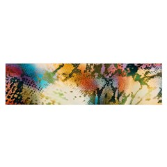 Abstract Color Splash Background Colorful Wallpaper Satin Scarf (Oblong)