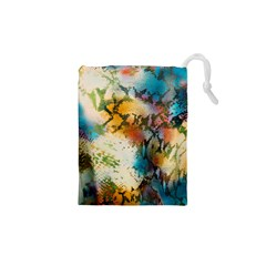 Abstract Color Splash Background Colorful Wallpaper Drawstring Pouches (xs)