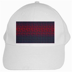 Abstract Tiling Pattern Background White Cap
