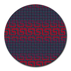 Abstract Tiling Pattern Background Round Mousepads