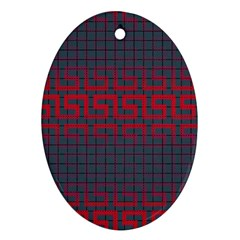 Abstract Tiling Pattern Background Ornament (oval)