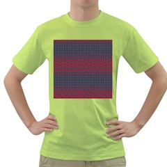 Abstract Tiling Pattern Background Green T-Shirt