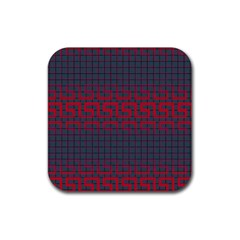 Abstract Tiling Pattern Background Rubber Square Coaster (4 Pack)