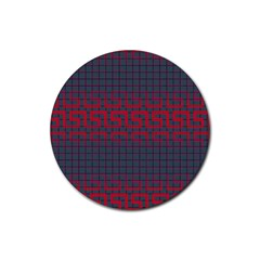 Abstract Tiling Pattern Background Rubber Coaster (round)