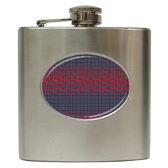 Abstract Tiling Pattern Background Hip Flask (6 oz)