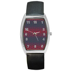 Abstract Tiling Pattern Background Barrel Style Metal Watch
