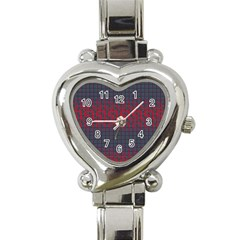 Abstract Tiling Pattern Background Heart Italian Charm Watch