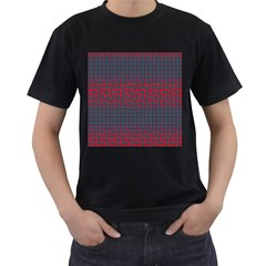 Abstract Tiling Pattern Background Men s T Shirt (black) (two Sided)