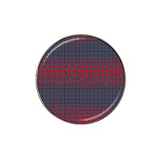 Abstract Tiling Pattern Background Hat Clip Ball Marker (4 Pack)