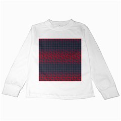 Abstract Tiling Pattern Background Kids Long Sleeve T Shirts