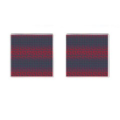 Abstract Tiling Pattern Background Cufflinks (square)
