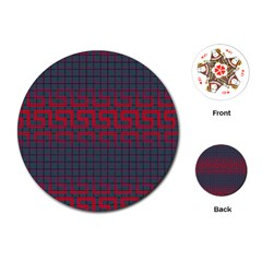 Abstract Tiling Pattern Background Playing Cards (Round)