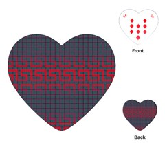 Abstract Tiling Pattern Background Playing Cards (heart)