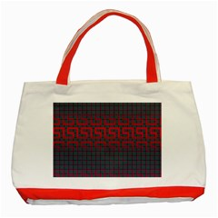 Abstract Tiling Pattern Background Classic Tote Bag (red)