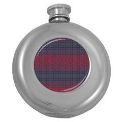 Abstract Tiling Pattern Background Round Hip Flask (5 oz)