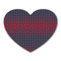 Abstract Tiling Pattern Background Heart Mousepads