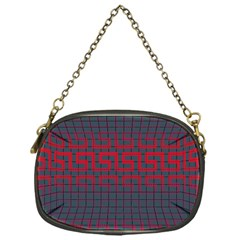 Abstract Tiling Pattern Background Chain Purses (One Side)