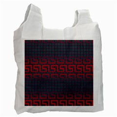 Abstract Tiling Pattern Background Recycle Bag (One Side)