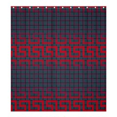 Abstract Tiling Pattern Background Shower Curtain 66  X 72  (large)