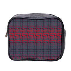 Abstract Tiling Pattern Background Mini Toiletries Bag 2 Side