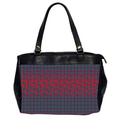 Abstract Tiling Pattern Background Office Handbags (2 Sides)