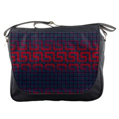Abstract Tiling Pattern Background Messenger Bags