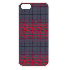 Abstract Tiling Pattern Background Apple Iphone 5 Seamless Case (white)