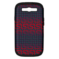 Abstract Tiling Pattern Background Samsung Galaxy S Iii Hardshell Case (pc+silicone)