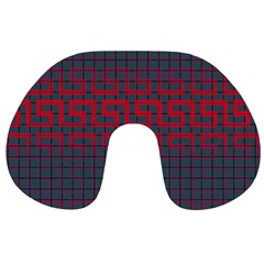 Abstract Tiling Pattern Background Travel Neck Pillows