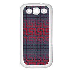 Abstract Tiling Pattern Background Samsung Galaxy S3 Back Case (white)