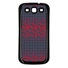 Abstract Tiling Pattern Background Samsung Galaxy S3 Back Case (Black)